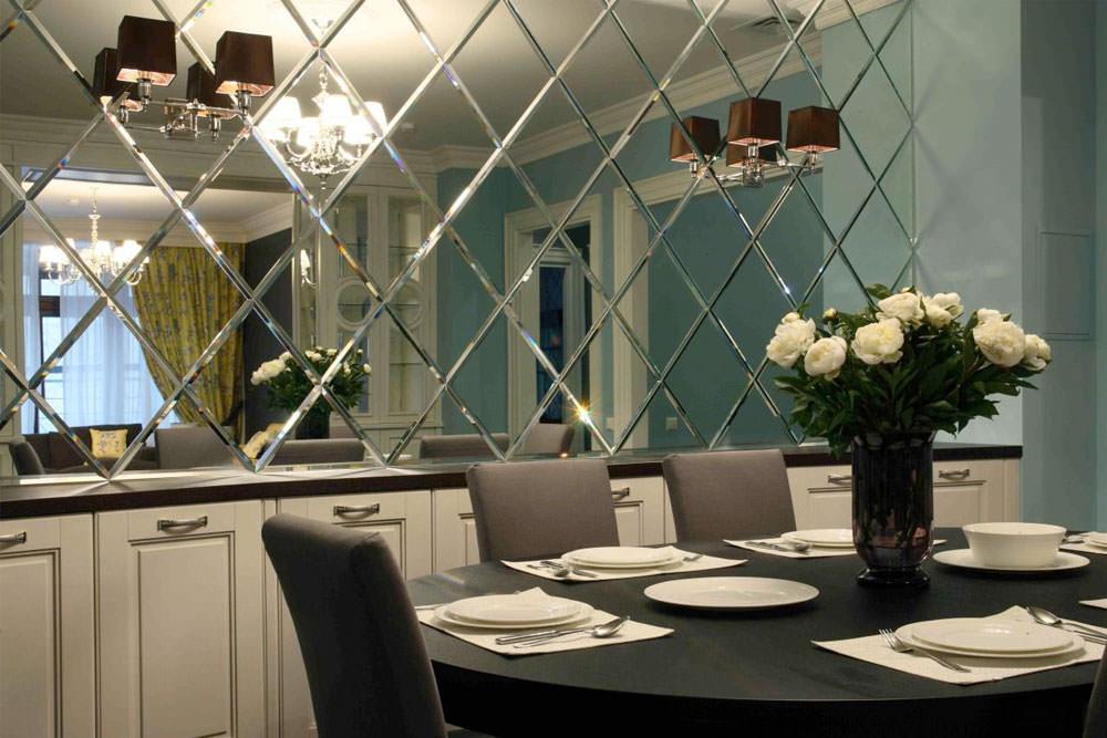 Зеркальные стены в интерьере фото